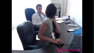 Hot Teen Fucks Colleague At Work On Webcam